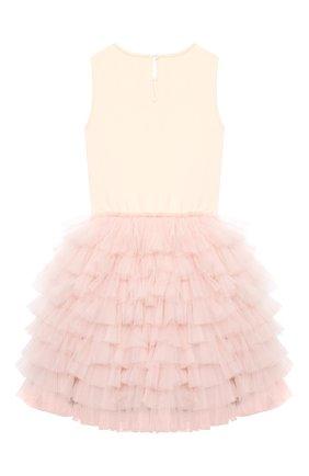 Детское хлопковое платье TUTU DU MONDE розового цвета, арт. TDM5143/12   Фото 2