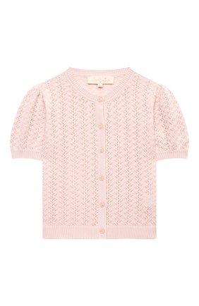 Детский хлопковый кардиган TUTU DU MONDE розового цвета, арт. TDM5161/4-11 | Фото 1