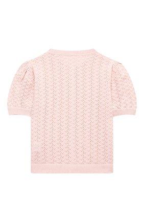 Детский хлопковый кардиган TUTU DU MONDE розового цвета, арт. TDM5161/4-11 | Фото 2