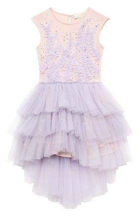 Детское хлопковое платье TUTU DU MONDE фиолетового цвета, арт. TDM5178/4-11   Фото 1