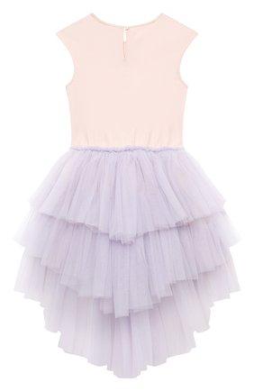 Детское хлопковое платье TUTU DU MONDE фиолетового цвета, арт. TDM5178/4-11   Фото 2