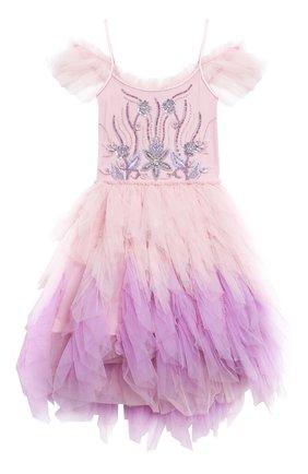 Детское хлопковое платье TUTU DU MONDE розового цвета, арт. TDM5182/4-11   Фото 1