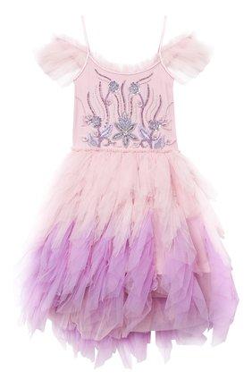 Детское хлопковое платье TUTU DU MONDE розового цвета, арт. TDM5182/12   Фото 1