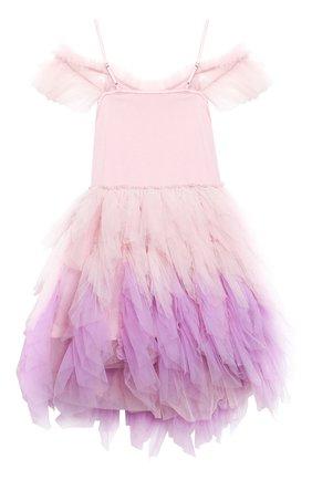 Детское хлопковое платье TUTU DU MONDE розового цвета, арт. TDM5182/12   Фото 2