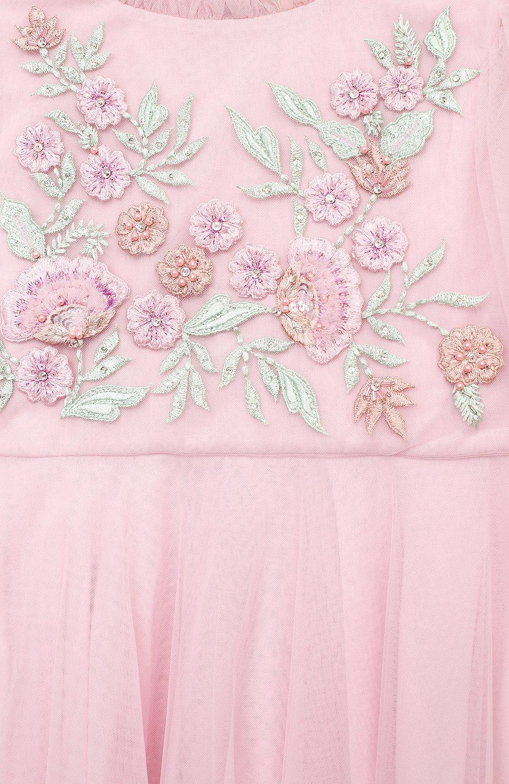 Детское платье TUTU DU MONDE розового цвета, арт. TDM5192/4-11   Фото 3 (Рукава: Длинные; Материал внешний: Синтетический материал, Хлопок; Материал подклада: Хлопок; Ростовка одежда: 12 лет   152 см, 5 лет   110 см, 7 лет   122 см, 8 лет   128 см)