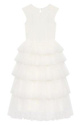 Детское хлопковое платье TUTU DU MONDE белого цвета, арт. TDM5198/4-11   Фото 2