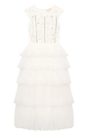 Детское хлопковое платье TUTU DU MONDE белого цвета, арт. TDM5198/12   Фото 1