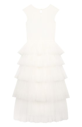 Детское хлопковое платье TUTU DU MONDE белого цвета, арт. TDM5198/12   Фото 2