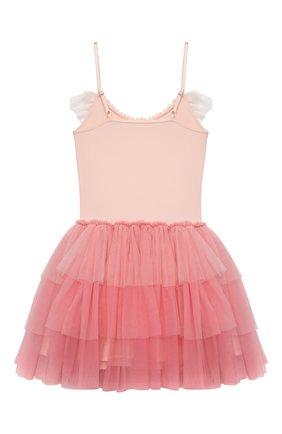 Детское хлопковое платье TUTU DU MONDE кораллового цвета, арт. TDM5199/4-11   Фото 2