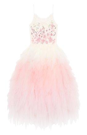 Детское хлопковое платье TUTU DU MONDE розового цвета, арт. TDM5204/4-11   Фото 1