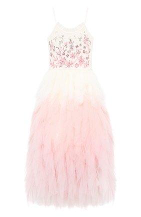 Детское хлопковое платье TUTU DU MONDE розового цвета, арт. TDM5204/12   Фото 1