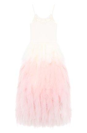 Детское хлопковое платье TUTU DU MONDE розового цвета, арт. TDM5204/12   Фото 2