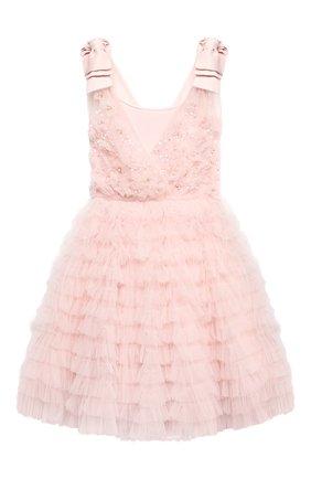 Детское хлопковое платье TUTU DU MONDE розового цвета, арт. TDM5224/4-11   Фото 1