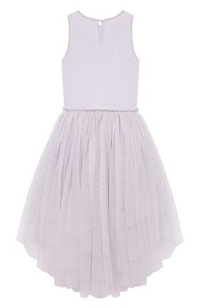 Детское хлопковое платье TUTU DU MONDE фиолетового цвета, арт. TDM5238/4-11   Фото 2
