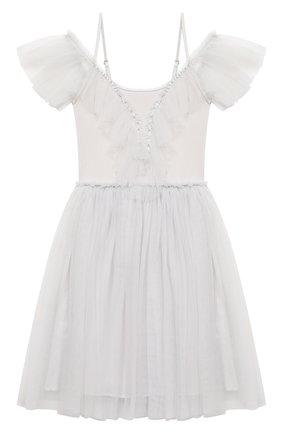 Детское хлопковое платье TUTU DU MONDE серебряного цвета, арт. TDM5383/4-11   Фото 1