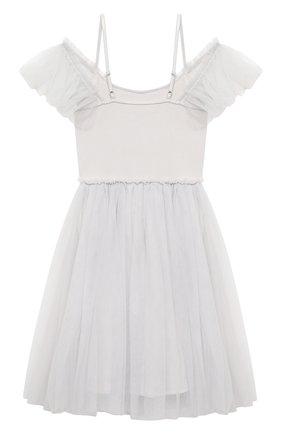 Детское хлопковое платье TUTU DU MONDE серебряного цвета, арт. TDM5383/4-11   Фото 2