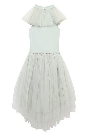 Детское хлопковое платье TUTU DU MONDE зеленого цвета, арт. TDM5410/4-11 | Фото 2