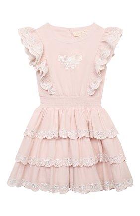 Детское хлопковое платье TUTU DU MONDE розового цвета, арт. TDM5415/4-11   Фото 1
