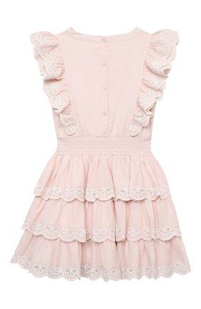 Детское хлопковое платье TUTU DU MONDE розового цвета, арт. TDM5415/4-11   Фото 2