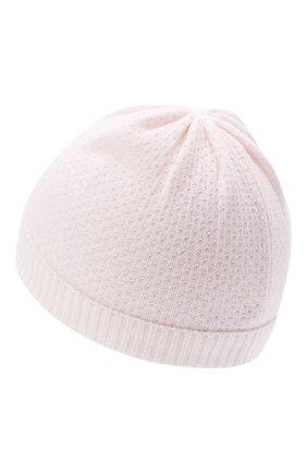 Детского кашемировая шапка LORO PIANA светло-розового цвета, арт. FAI7365 | Фото 2