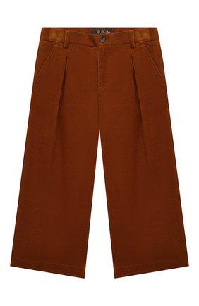 Детского хлопковые брюки LORO PIANA коричневого цвета, арт. FAL2311 | Фото 1