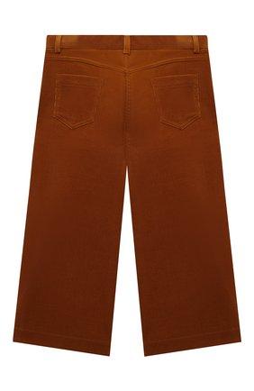 Детского хлопковые брюки LORO PIANA коричневого цвета, арт. FAL2311 | Фото 2