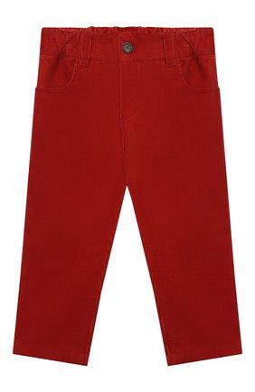 Детские хлопковые брюки LORO PIANA красного цвета, арт. FAL3473 | Фото 1