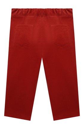 Детские хлопковые брюки LORO PIANA красного цвета, арт. FAL3473 | Фото 2