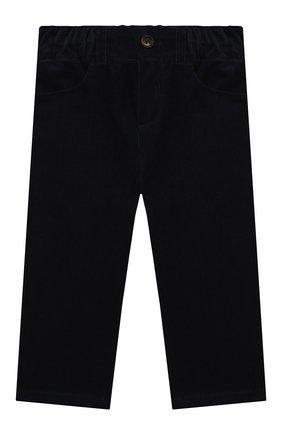 Детские хлопковые брюки LORO PIANA темно-синего цвета, арт. FAL3473 | Фото 1