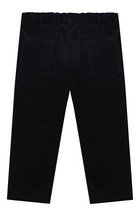 Детские хлопковые брюки LORO PIANA темно-синего цвета, арт. FAL3473 | Фото 2