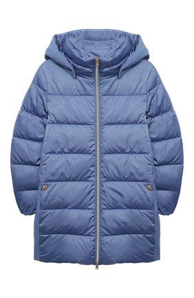 Детского пуховое пальто HERNO голубого цвета, арт. PI0091G/12170/4A-8A | Фото 1