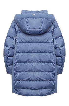 Детского пуховое пальто HERNO голубого цвета, арт. PI0091G/12170/4A-8A | Фото 2