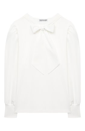 Детский хлопковая блузка ALESSANDRO BORELLI MILANO белого цвета, арт. J20165-20л | Фото 1