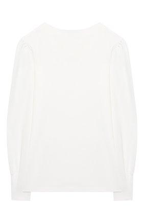 Детский хлопковая блузка ALESSANDRO BORELLI MILANO белого цвета, арт. J20165-20л | Фото 2