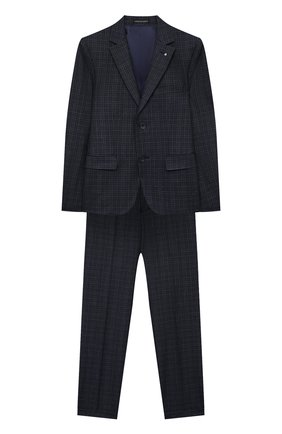 Детский костюм из брюк и пиджака ALESSANDRO BORELLI MILANO синего цвета, арт. BEJ20226-20л | Фото 1