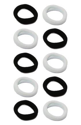 Детская комплект из 10-ти резинок soft basic JUNEFEE черно-белого цвета, арт. 6559 | Фото 2