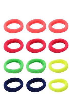 Детская комплект из 12-ти резинок soft basic xs JUNEFEE разноцветного цвета, арт. 6562 | Фото 2