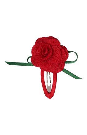 Детская заколка-клак rose JUNEFEE красного цвета, арт. 6570 | Фото 1