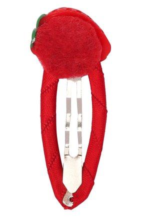 Детская заколка-клак strawberry JUNEFEE красного цвета, арт. 6564 | Фото 2