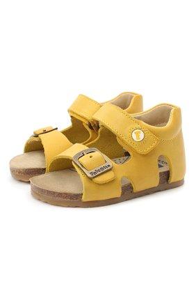 Детские кожаные сандалии FALCOTTO желтого цвета, арт. 0011500737/01 | Фото 1
