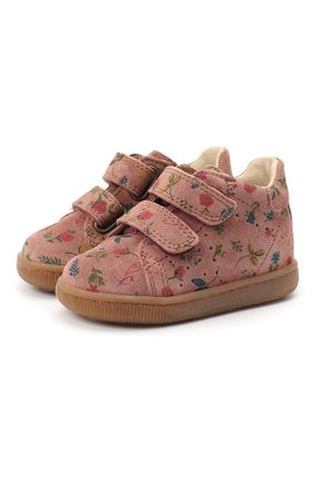 Детские замшевые кеды FALCOTTO розового цвета, арт. 0012013476/22 | Фото 1