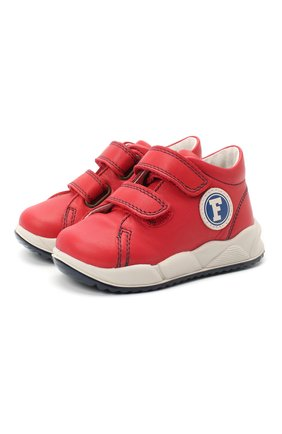 Детские кожаные кеды FALCOTTO красного цвета, арт. 0012015417/01 | Фото 1