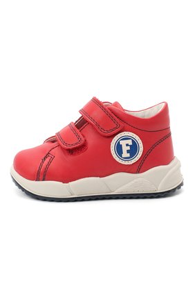 Детские кожаные кеды FALCOTTO красного цвета, арт. 0012015417/01 | Фото 2
