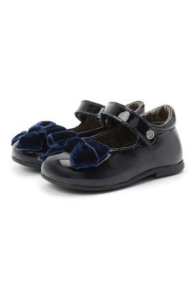 Детские кожаные туфли NATURINO синего цвета, арт. 0012015452/01/19-26   Фото 1