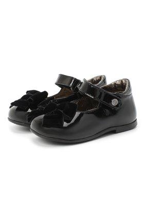 Детские кожаные туфли NATURINO черного цвета, арт. 0012015452/01/19-26   Фото 1
