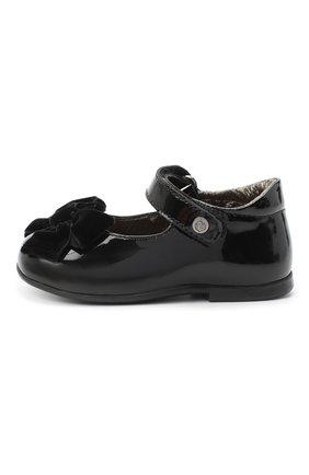 Детские кожаные туфли NATURINO черного цвета, арт. 0012015452/01/19-26   Фото 2