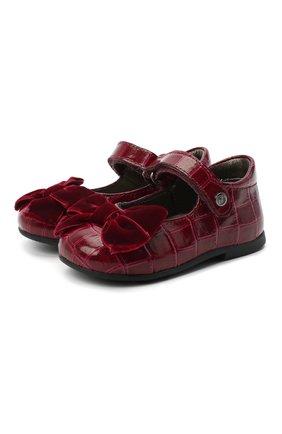 Детские кожаные туфли NATURINO бордового цвета, арт. 0012015452/03/19-26   Фото 1