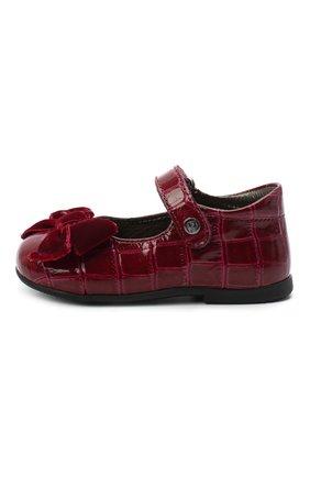 Детские кожаные туфли NATURINO бордового цвета, арт. 0012015452/03/19-26   Фото 2
