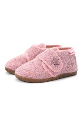 Детского домашние ботинки NATURINO розового цвета, арт. 0014000620/01/24-26 | Фото 1