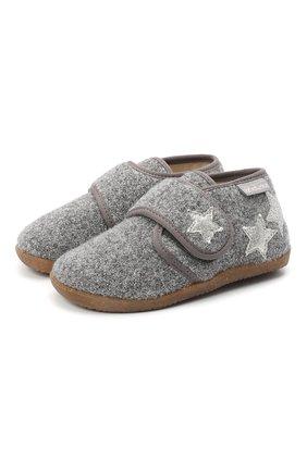 Детского домашние ботинки NATURINO серого цвета, арт. 0014000620/01/24-26 | Фото 1